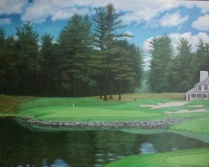 "Ipswich Country Club - 5th Hole - 24"" x 30"""