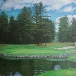 "Ipswich Country Club, Ipswich, MA 5th hole 24"" x 30"""
