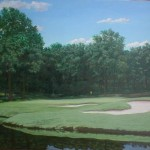 "The Country Club, Brookline, MA 11th hole 24"" x 30"""