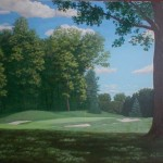 "The Country Club, Brookline, MA 4th hole 24"" x 30"""